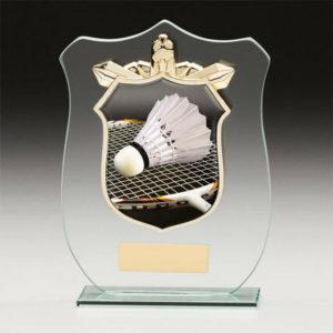 Badminton Titan Glass,Trophy,Award,120mm,FREE Engraving (CR15093A)