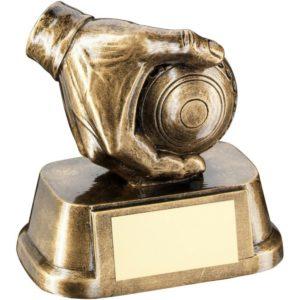 Bowls Lawn Bowls Trophy Award 89mm Free Engraving (RF777A) td
