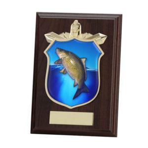 Carp Fishing Titan Wooden Shield,Trophy,Award 125mm,FREE Engraving (PL15105B)trd