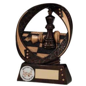 Chess Trophy, Award 90mm, FREE Engraving (RF16076A)(TRD)