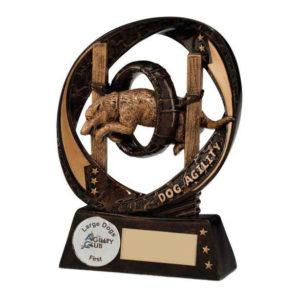 Dog Agility Trophy 130mm, Free Engraving (RF16084B)trd