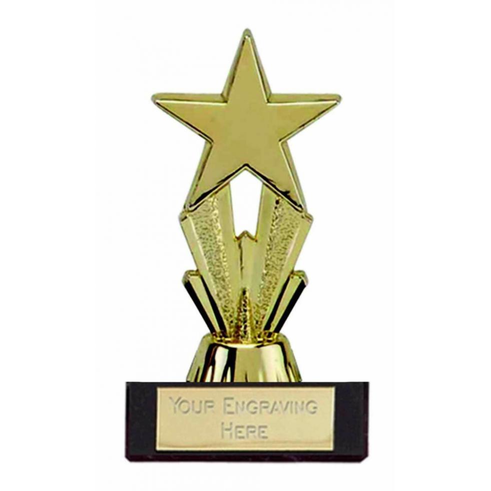 Gold Mini Star Trophy,Award,83mm,Dance,Schools Award,FREE Engraving (FT38A)
