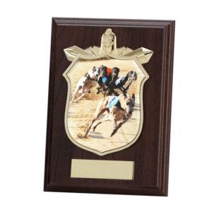 Greyhound Racing Wooden Shield Trophy, 125mm, FREE Engraving (PL15119B)