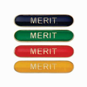 Merit Enamelled Bar School Badge, Red, Blue, Green, Yellow (SB16117)