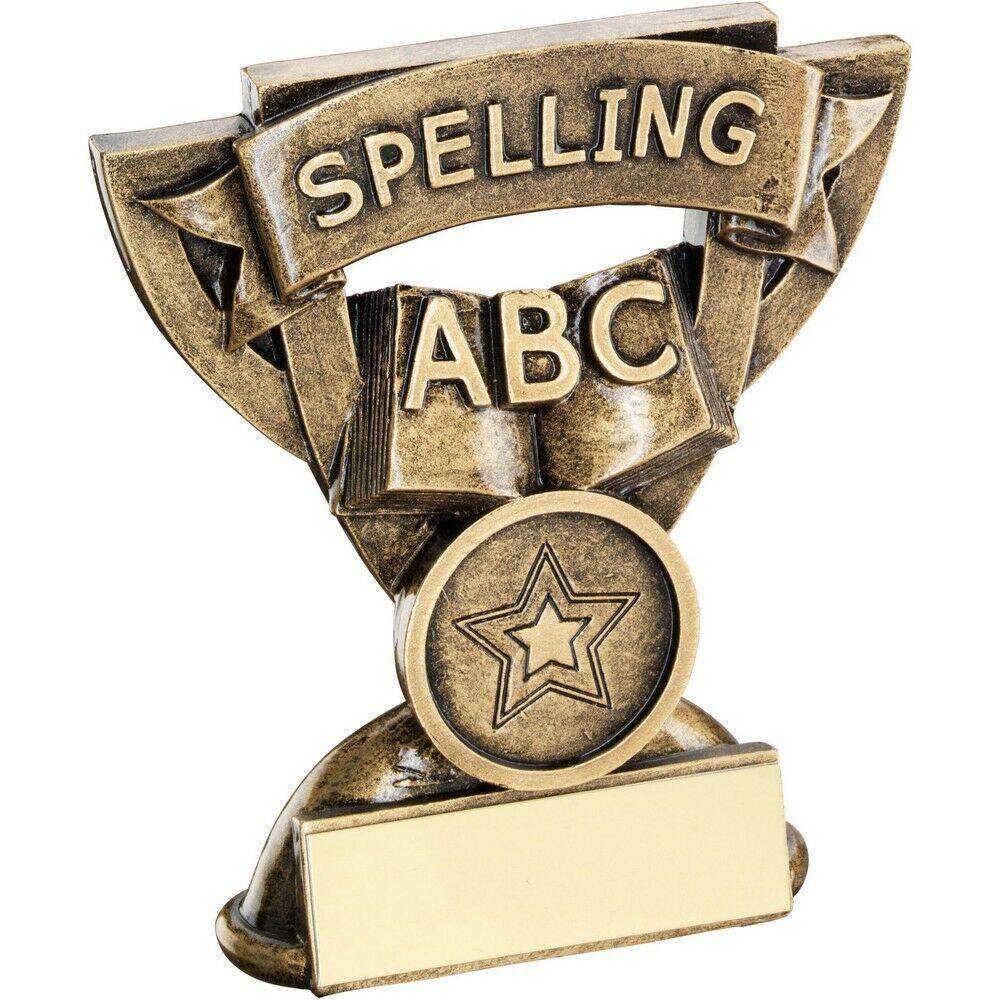 Star Cup Spelling Trophy Award 95mm Free Engraving (RF819) td