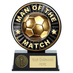 Vibe Man of the Match Football Trophy Award 120mm Free Engraving (PK141) gw