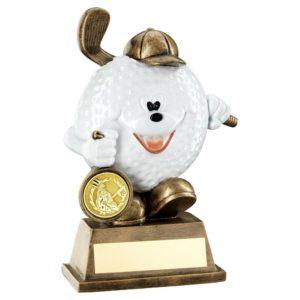 Comedy Golf Ball Man Trophy Award 146mm Free Engraving (RF102) td