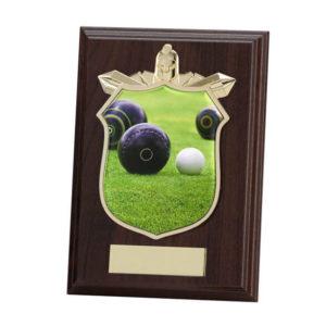 Lawn Bowls Titan Wooden Shield Trophy, 175mm, FREE Engraving (PL15122D)