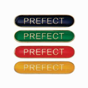 Prefect Enamelled Bar School Badge, Red, Blue, Green, Yellow (SB16119)