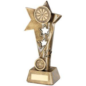 Star Darts Trophy Award 260mm Free Engraving (RF653C) td