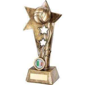 Star Twist Gaelic Football Trophy Award 260mm Free Engraving (RF652C) td