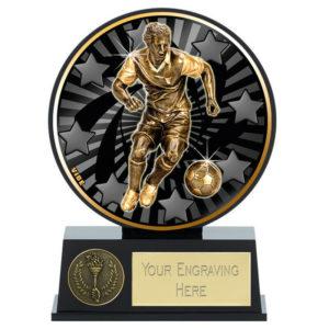 Vibe Male Football Trophy Award Man of the Match 120mm Free Engraving (PK140) gw