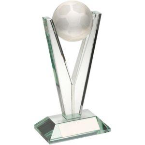 Victory Glass Football Trophy Award 210mm Free Engraving (TD541L) td