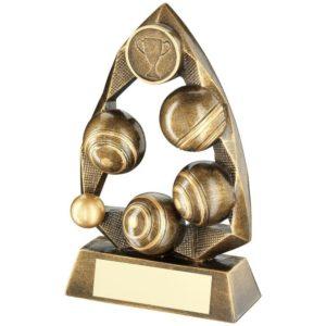 Arch Bowls Lawn Bowls Trophy Award 165mm Free Engraving (RF677B) td