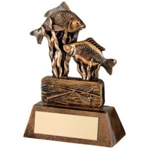 Carp Fishing Angling Trophy Award 159mm Free Engraving (RF381A)td