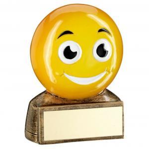 Emoji Smile Trophy Award 70mm Free Engraving (RF950) td