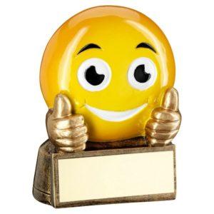 Emoji Thumbs Up Trophy Award 70mm Free Engraving (RF951) td