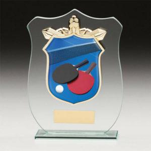Table Tennis Titan Glass,Trophy,Award,120mm,FREE Engraving (CR15139A)trd