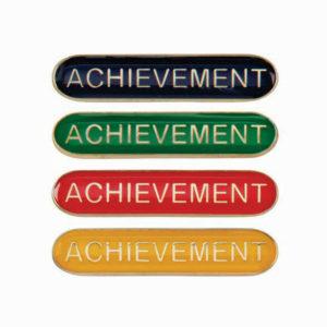 Achievement Enamelled Bar School Badge, Red, Blue, Green, Yellow (SB16113)