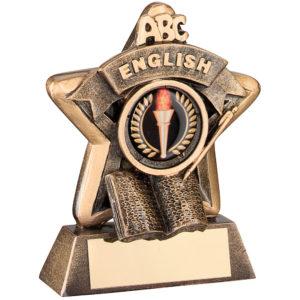 English Trophy, School Award, 95mm, FREE Engraving (RF407) td