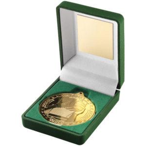 Gaelic Football Medal with Medal Box, 50mm Diameter, FREE Engraving (JR23-TY62)
