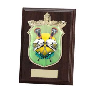 Lacrosse Titan Wooden Shield Trophy,125mm,FREE Engraving (PL15121B)