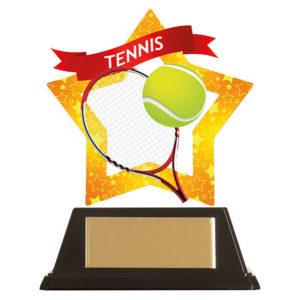 Mini Star Tennis Trophy, Acrylic 100mm Free Engraving (AC19698A)trd