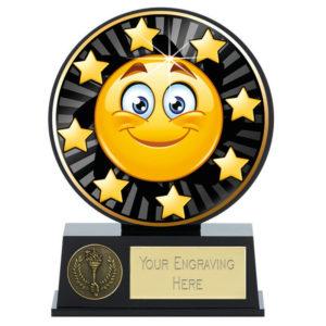 Vibe Smiley Face Trophy Award Fun Emoji 120mm Free Engraving (PK227) gw