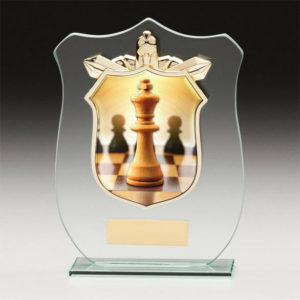 Chess Titan Glass, Trophy, Award, 120mm, FREE Engraving (CR15097A)trd