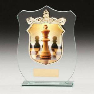 Chess Titan Glass, Trophy, Award, 120mm, FREE Engraving (CR15097A)trd