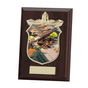 Clay Pigeon Shooting Wooden,Trophy Award 150mm,FREE Engraving (PL15127C)trd