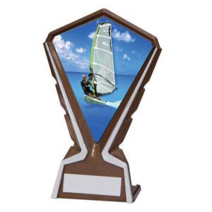 Phoenix Windsurfing Plastic Plaque Trophy,160mm,FREE Engraving (AT4276K) cl