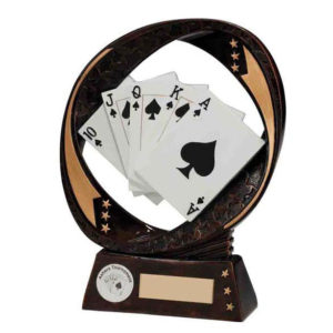 Poker ,Cards ,Games Trophy/Award 170mm, FREE Engraving (RF16079A)(TRD)