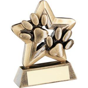 Star Cat Paws Trophy Award Paws 95mm FREE Engraving (RF409) td