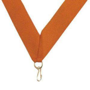 10 x Orange Sports Medal ribbon,395mm long,22mm wide