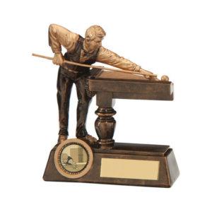 Big Break Pool, Snooker Trophy,130mm ,Free Engraving (RF17056A) trd