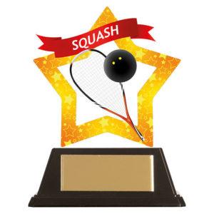Mini Star Squash Trophy, Acrylic 100mm Free Engraving (AC19692A)trd