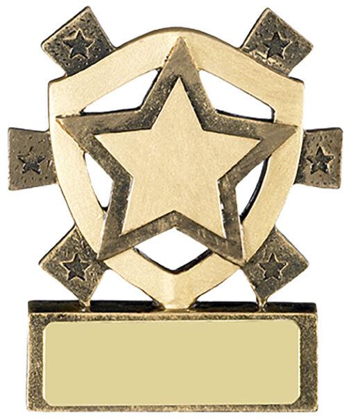 Star Mini Shield Trophy,80mm,Free Engraving (RM649) good
