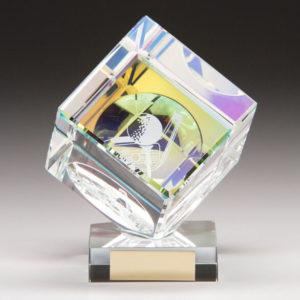 Victorious Golf Cube,Crystal Golf Trophy/Award 130mm,FREE Engraving (CR9231B)trd