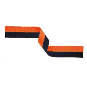 10 x Black/Orange Sports Medal Ribbon,22mm Wide,395mm Long (MR24)