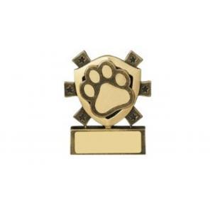 Mini Shield Dog, Cat Pet Trophy, 80mm, Free Engraving (RM653) good