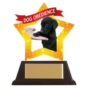Mini Star Dog Obedience Trophy, Acrylic 100mm Free Engraving (AC19653A)trd