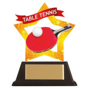 Mini Star Table Tennis Trophy, Acrylic 100mm Free Engraving (AC19694A)trd