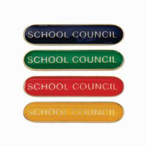 School Council Enamelled Bar School Badge, Red, Blue, Green, Yellow (SB16120)