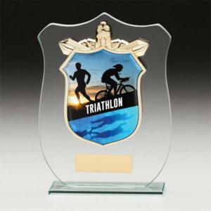 Triathlon Titan Glass,Trophy,Award,120mm,FREE Engraving (CR15141A)trd