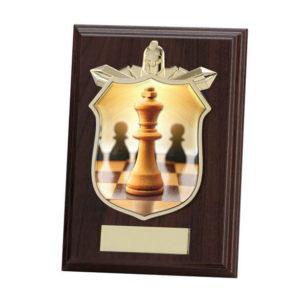 Chess Wooden Shield Trophy Award 125mm,FREE Engraving PL15097B)trd