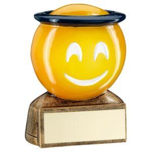Emoji Saint Trophy Award Fun Kids 70mm Free Engraving (RF953) td