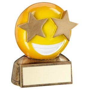 Emoji Starry Eyes Trophy Award Fun Kids 70mm Free Engraving (RF954) td