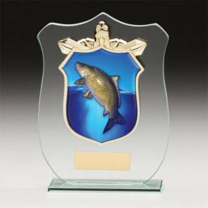 Fishing – Carp Titan Glass,Trophy,Award,120mm,FREE Engraving (CR15105A) trd
