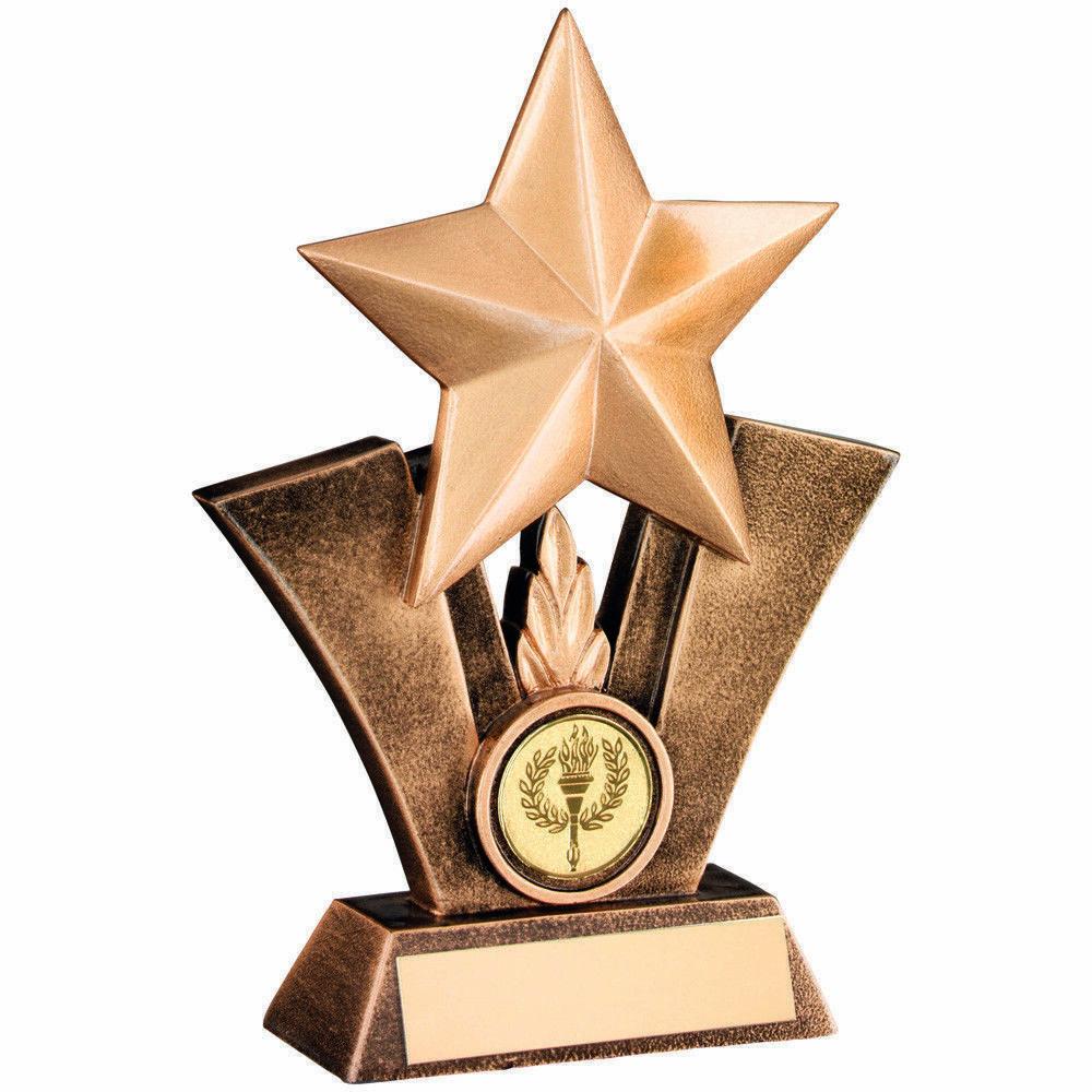 Golden Star Trophy Award FREE ENGRAVING